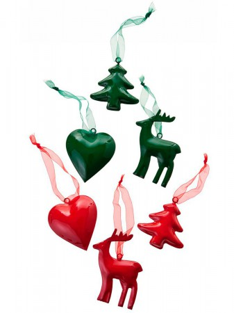 Santa Luce Christmas Ornament Heart Green – Bild 2