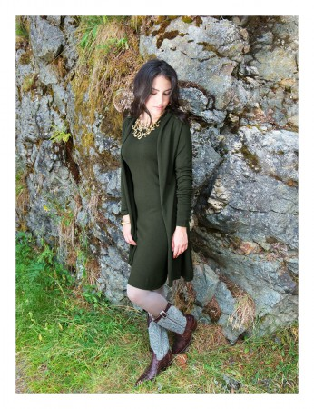 Aclare Knitted Dress Olive Green – Bild 4