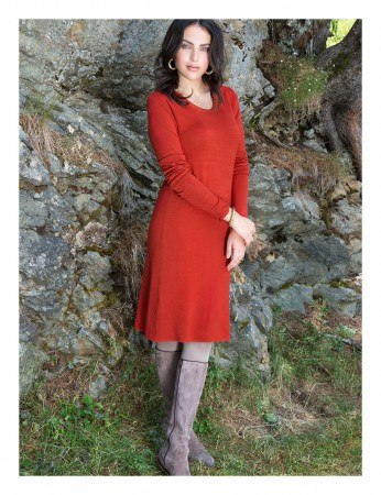Aclare Knitted Dress Terracotta – Bild 3
