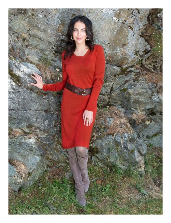 Aclare Knitted Dress Terracotta – Bild 4